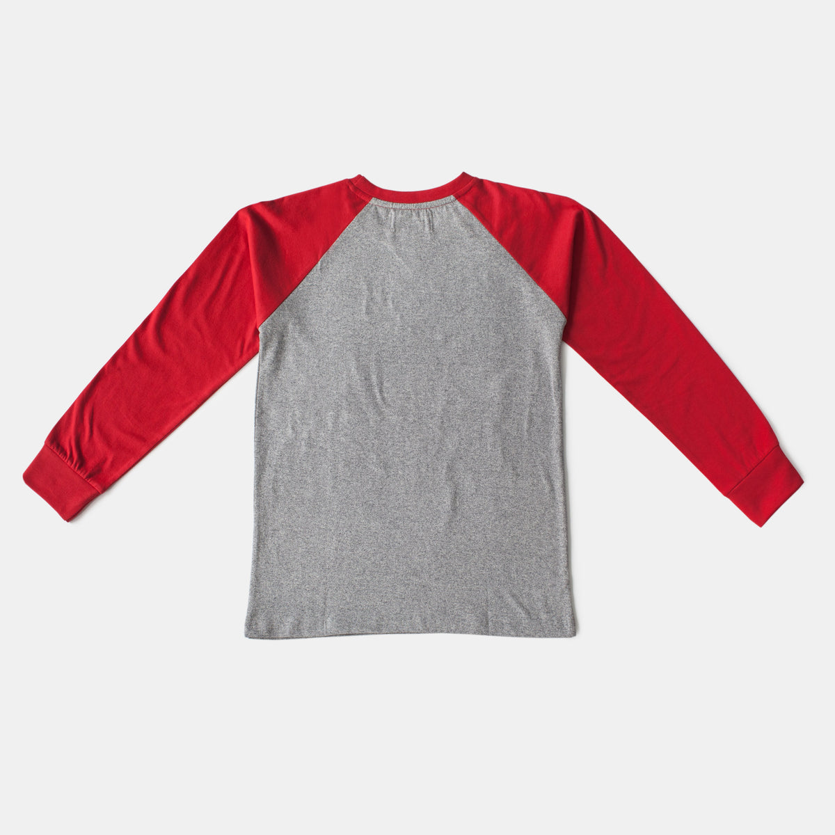 Red/Gray Baseball Style Raglan Long Sleeve Tee