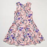Scuba Cutout Dress Pink Flowers