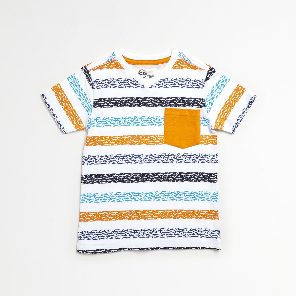 Sharks Striped Tee