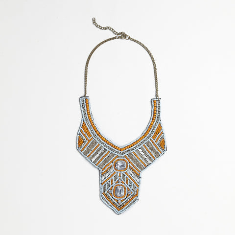 Silver/Gold Bib Necklace