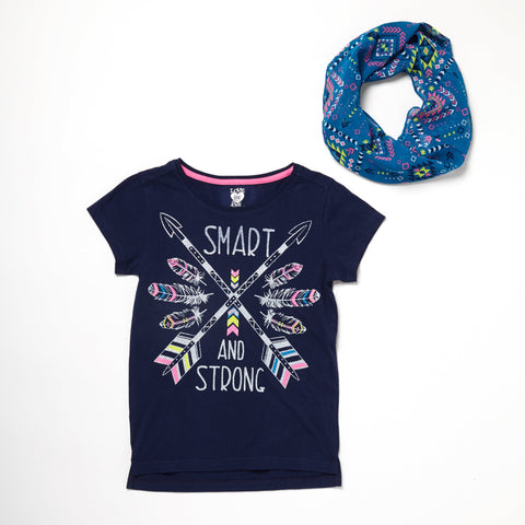 Smart And Strong Tee And Scarf