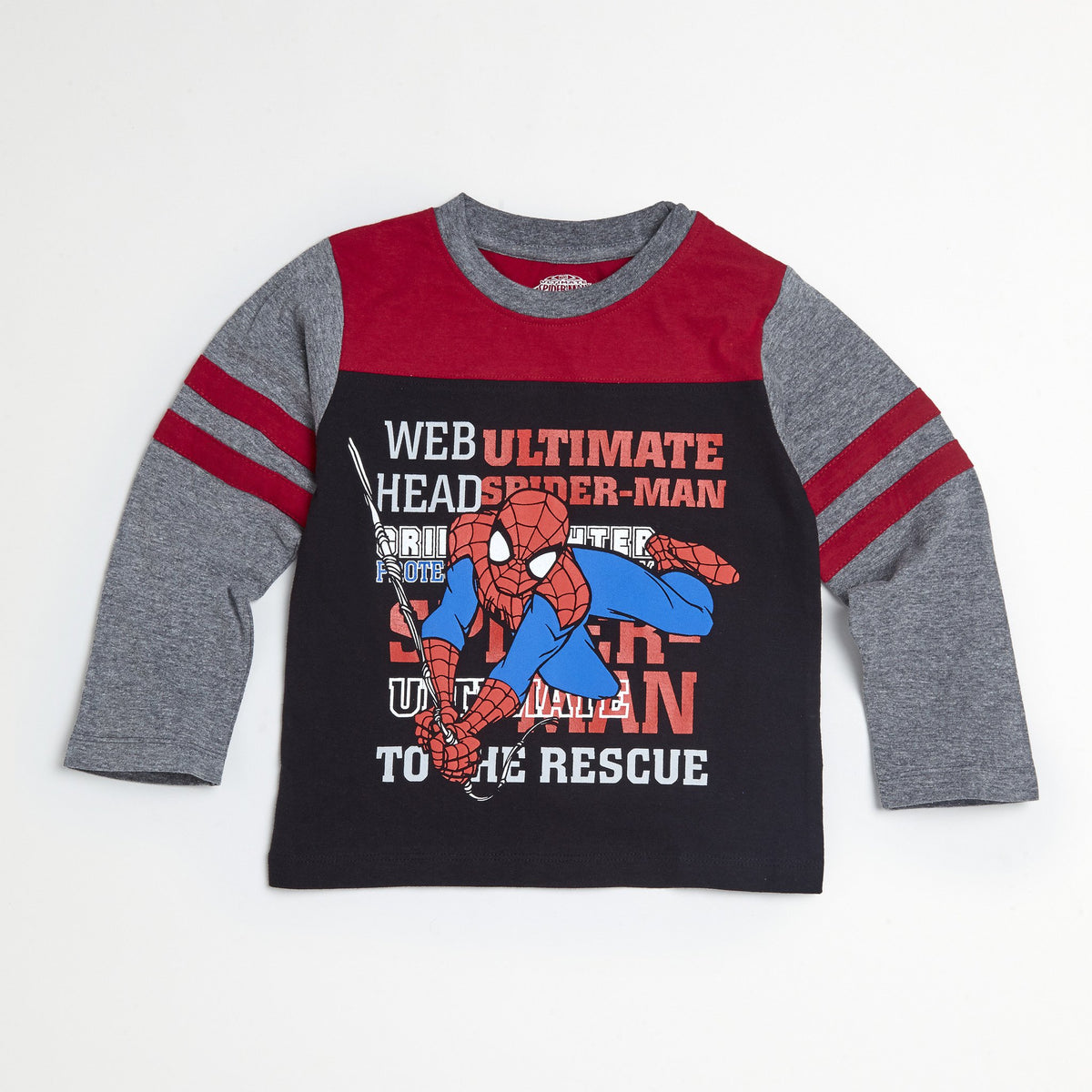 Spider-Man Maroon/Gray Tee & Jogger Set