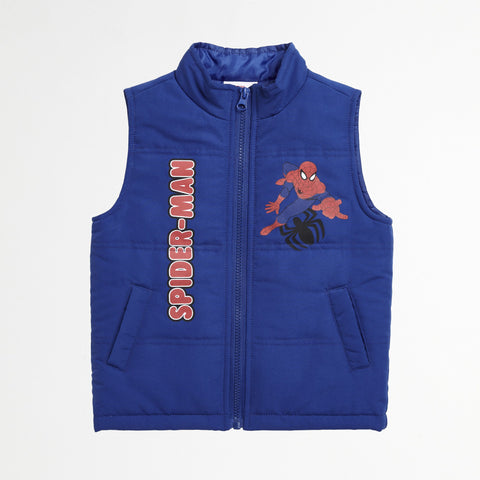 Spider-Man Puff Vest, Tee & Jogger Set