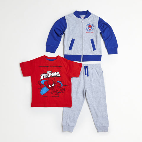 Spider-Man Red/Blue Jacket, Tee & Jogger Set
