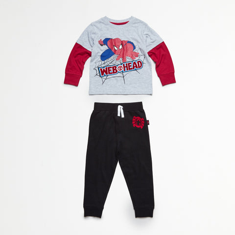Spider-Man Red/Gray Tee & Jogger Set