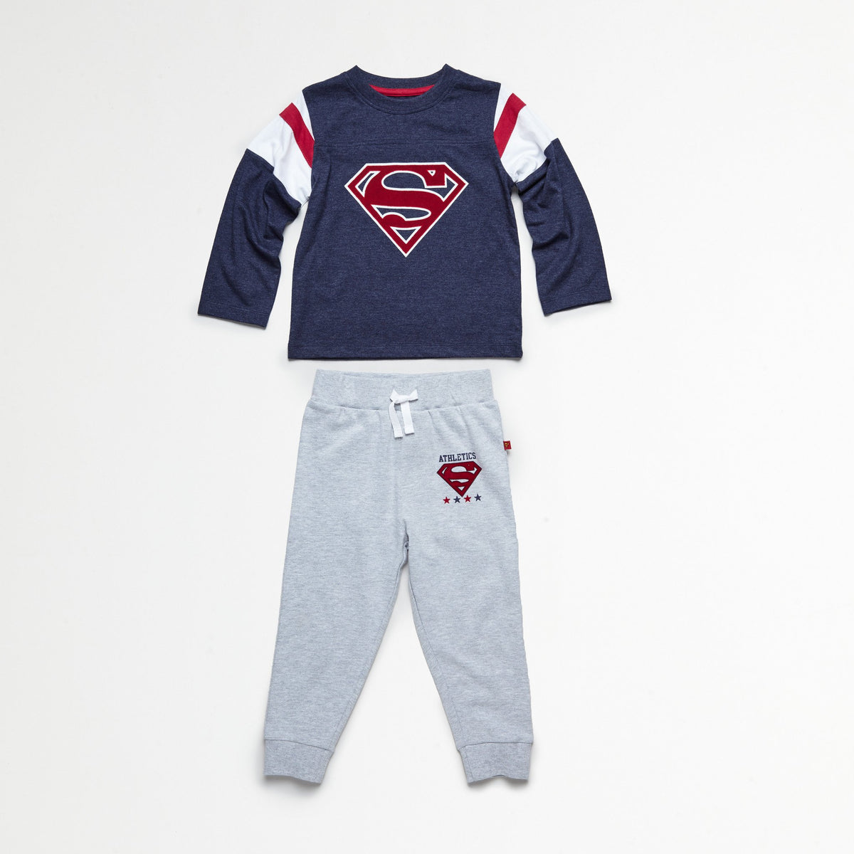 Superman Blue/Red Tee & Jogger Set