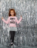Sweatshirt and Legging Set with Lace and Don't Look Back Graphic