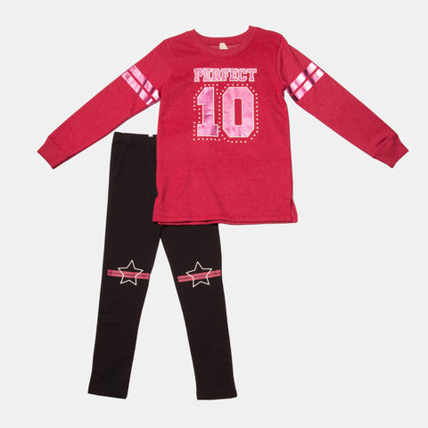 Sweatshirt and Legging Set with Perfect 10 Graphic