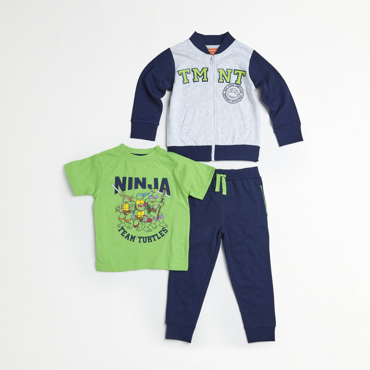 TMNT Blue/Green Jacket, Tee & Jogger Set