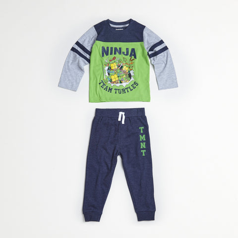 TMNT Green/Navy Tee & Jogger Set