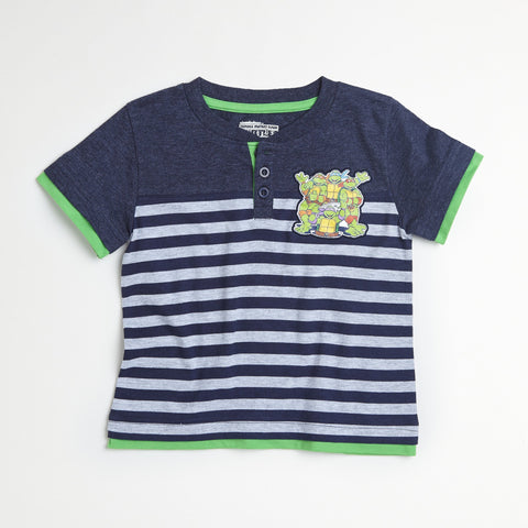 TMNT Ninja Turtles T-Shirt With Stripes