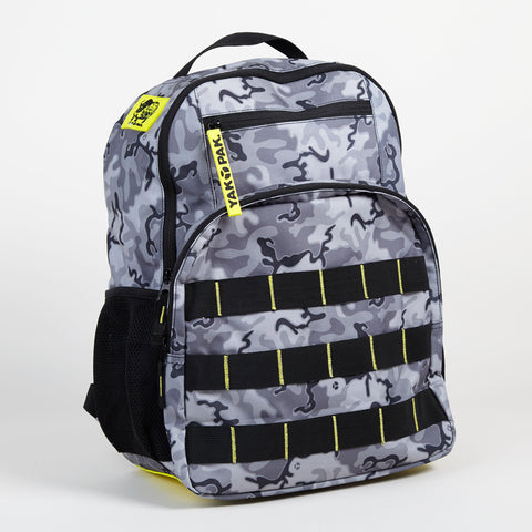 Yak Pak Gray Camo Backpack