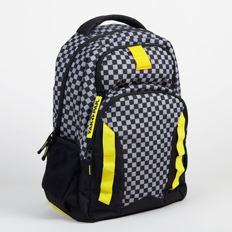 Yak Pak Gray Checker Backpack