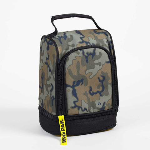 Yak Pak Green Camo Lunch Bag