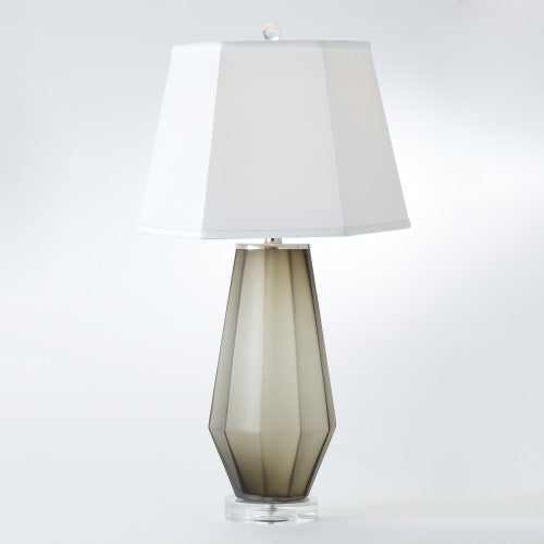 Fluted Frosted Lamp- Gray