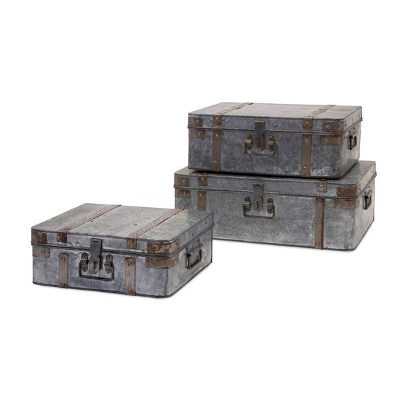 Galvanized Suitcases