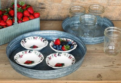 Round Florist's Trays - Set of 2