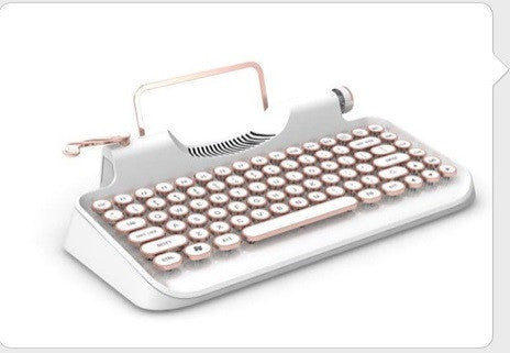PONERINE TRADITIONAL TYPEWRITER MECHANICAL KEYBOARD FOR PC CELL PHONE WIRED - Epic Buy International Inc