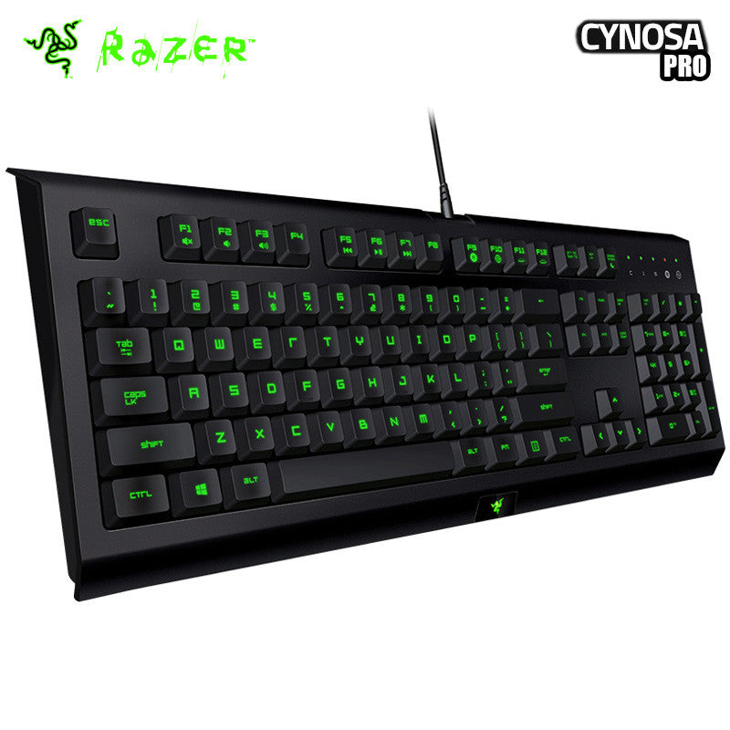 Razer Cynosa Pro Backlit Membrane Gaming Keyboard 104 key 3 Color Backlit - Epic Buy International Inc