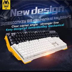 JAMES DONKEY 619 Mechanical Keyboard 104keys MX Blue Black Brown Red Switches Backlight