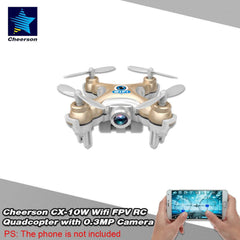 Cheerson CX-10W 4CH 6-Axis Gyro Wifi FPV Drone RTF Mini
