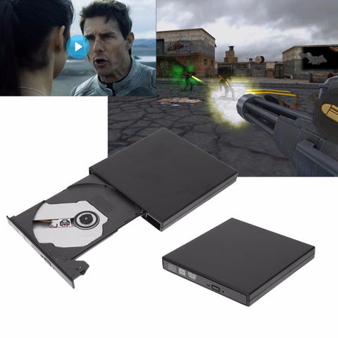 VAKIND External Black USB Slim 8x DVDRW DL DVD CD RW Burner Writer Drive