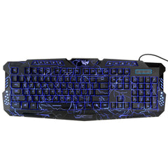 docooler Adjustable Crack Backlight Wired LED Backlit Keyboard Computer Gaming
