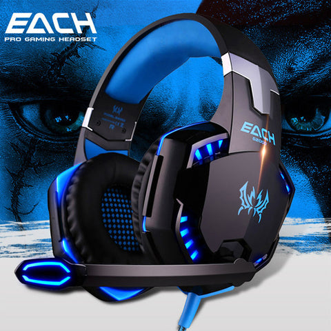 KOTION EACH Gaming Headset Over-Ear Headphones Ear Phone Casque Stereo Earphone with Mic