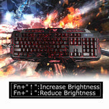 VAKIND Wired Gaming Keyboard Adjustable 3-colors LED Backlight Keyboard Crack Illuminated USB - Epic Buy International Inc