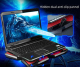 COOLCOLD Four Fans USB 2.0 Laptop Cooling Pads Four Fans Cooling Pad Air-cooled Radiator Aluminum - Epic Buy International Inc