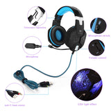 EACH G1000 Deep Bass Gaming Headphone Stereo Surround Over Ear Headset 3.5mm+USB Headphones With Mic LED Light For PC Gamer - Epic Buy International Inc