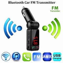 Excelvan Car Kit Bluetooth FM Transmitter Car MP3 Audio Player Wireless FM
