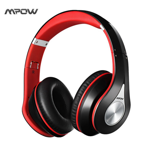 Mpow On-Ear headset Headphone wireless Bluetooth 4.0 Built-in Mic Soft Earmuffs Noise Cancelling Stereo