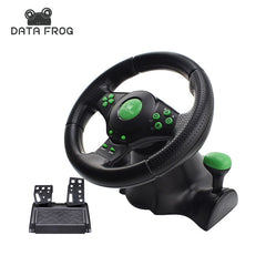 Data Frog 4 In 1 Wired USB Game Steering Wheels For Android/PC/XBOX 360/PS3 Vibration Motor Racing Controller
