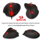 Redragon M605 Smilodon Gaming Mouse 2000DPI 6 Buttons Ergonomic Wired Optical Mice for  Notebook PC Laptop Computer Video Game - Epic Buy International Inc