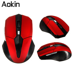 AOKIN 2.4 Wireless Mouse Mini Game Mice 1200DPI Adjustable Optical Mouse 4 Buttoms Mini