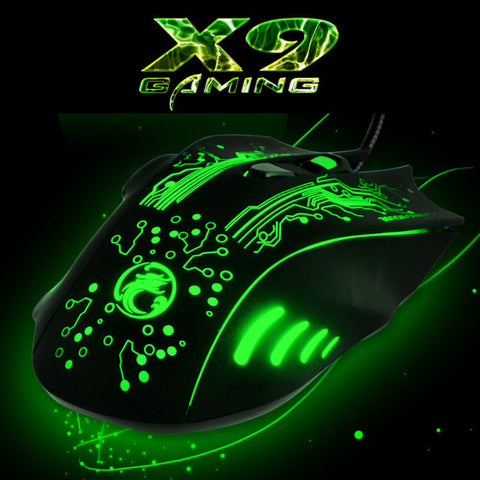 SADA X9 5000DPI Colorful Gaming Mouse 6 Buttons LOL Optical  USB Wired