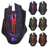 HXSJ H800 5500 DPI Colorful Gaming Mouse 7 Buttons LOL Optical USB Wired - Epic Buy International Inc