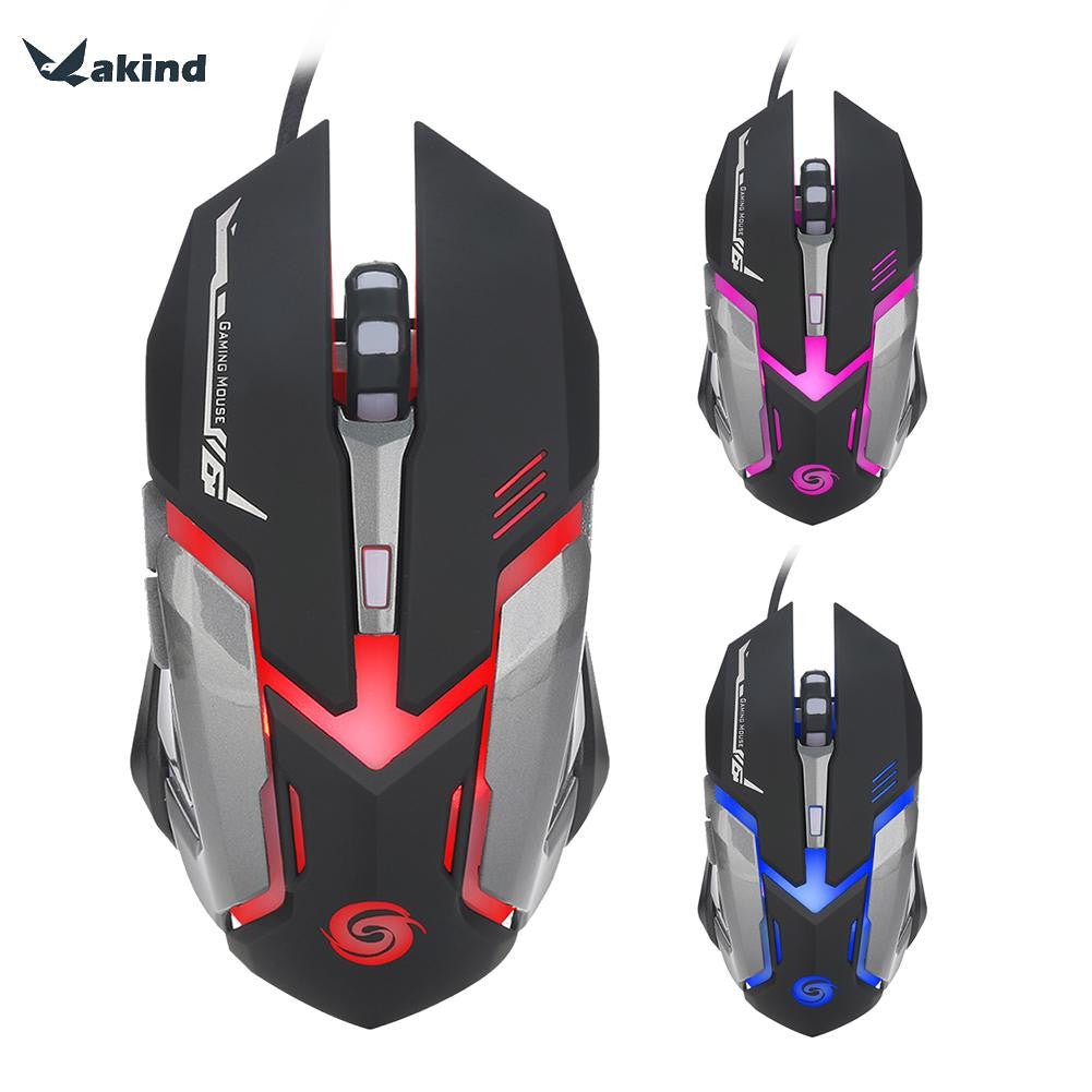 VAKIND 6 Button 3200DPI Wired Gaming Mouse LED Optical USB Computer Cable Mouse - Epic Buy International Inc