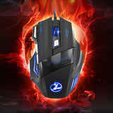 VAKIND 5500 DPI 7 Button LED Optical USB Wired Gaming Office Mouse Mice - Epic Buy International Inc
