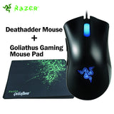 Razer Deathadder Mouse 3500DPI Gaming Mouse ,USB Wired Ergonomic right-handed Game Mouse Combo - Epic Buy International Inc