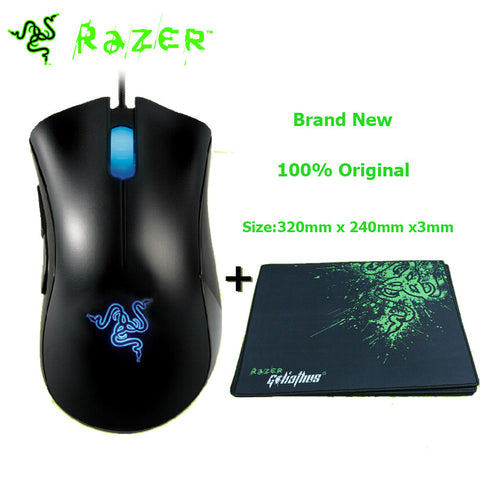 Razer Deathadder 3.5G 3500DPI Gaming Mouse + Razer Goliathus Computer Wired Mice Combo