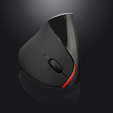 vorstek 2.4Ghz Wireless Vertical Mouse 5 Keys DPI 1600 Rechargeable Included Battery - Epic Buy International Inc