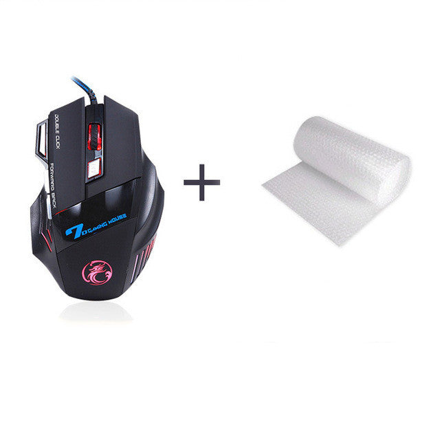 SADA Double Click 7 Buttons 3200DPI Gaming Mouse USB Wired Optical Computer Game Mouse - Epic Buy International Inc