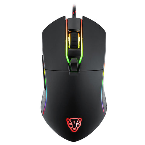 Motospeed V30 1.8m Wired USB Game Mouse Support Adjustable 3500DPI Resolution with Backlight