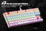 Motospeed K87 RGB Backlit Blue Switch Mechanical Gaming Keyboard Full N-key Rollover - Epic Buy International Inc