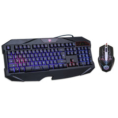 Blue Illuminated Keyboard Mouse Combo Backlit LED Gaming - Epic Buy International Inc