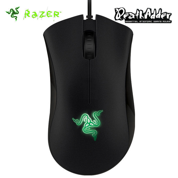 Razer DeathAdder 1800 Infrared gaming mouse 1800dpi black 7 Foot Lightweight Braided Fiber Cable - Epic Buy International Inc