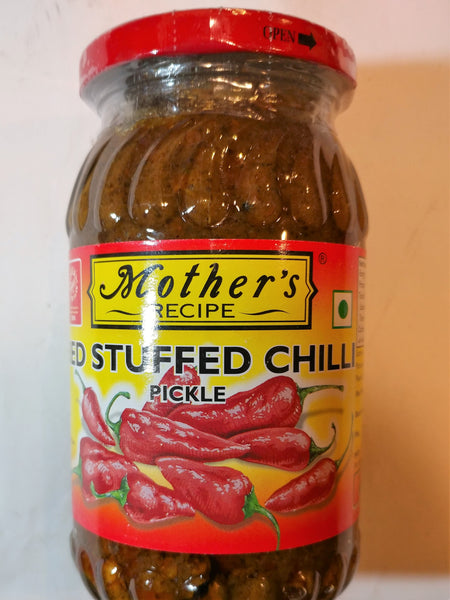 Mothers Stuffed Red Chilli Pickle 400g (レッドチリピクルス)