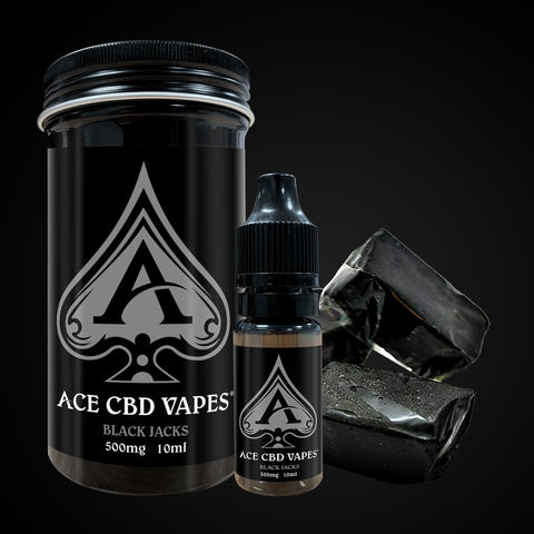Black Jacks - Ace CBD Vapes 250mg 10ml